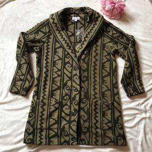 DENIM & CO | Fleece Button Jacket | SM